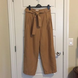 Wilfred linen wide legged pant in tan colour